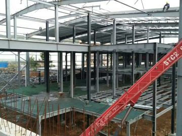 Çin Multi - Floor Building Steel Frame Fabrication With Aluminum Alloy Window\ Distribütör